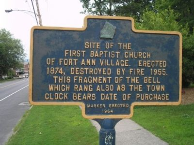 Fort Anne First Baptist Church Marker image. Click for full size.