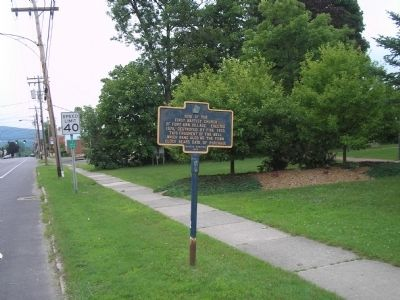 Marker in Fort Anne image. Click for full size.