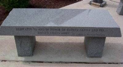 Morrow County Veterans Memorial Army Memorial Bench image. Click for full size.