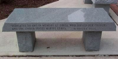 Morrow County Veterans Memorial Marine Corps Memorial Bench image. Click for full size.