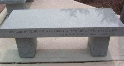 Morrow County Veterans Memorial Navy Memorial Bench image. Click for full size.