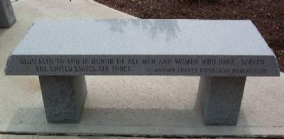 Morrow County Veterans Memorial Air Force Memorial Bench image. Click for full size.
