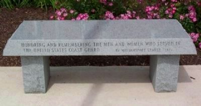 Morrow County Veterans Memorial Coast Guard Memorial Bench image. Click for full size.
