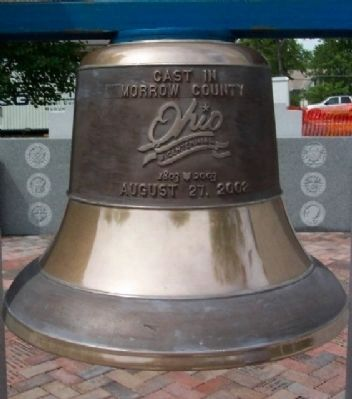 Morrow County Bicentennial Bell at Veterans Memorial Plaza image. Click for full size.