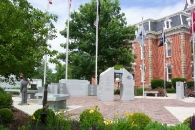 Morrow County Veterans Memorial Plaza image. Click for full size.