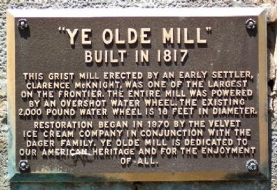 Ye Olde Mill Marker image. Click for full size.