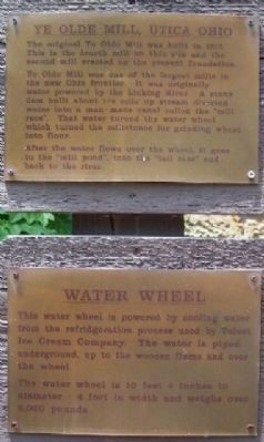 Ye Olde Mill and Water Wheel Markers image. Click for full size.