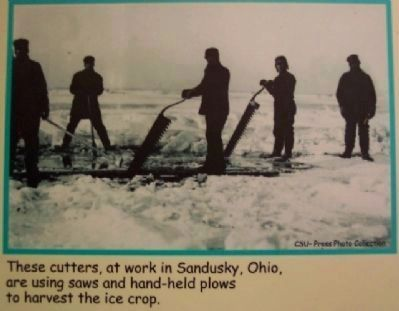 Ice Cutters Photograph on Marker image. Click for full size.
