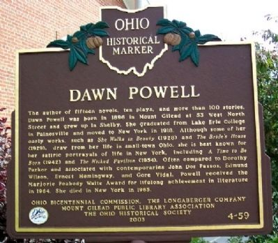 Dawn Powell Marker image. Click for full size.