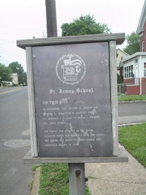 St. James School Marker image. Click for full size.