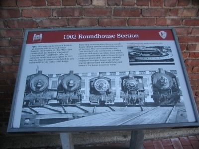 1902 Roundhouse Section Marker image. Click for full size.