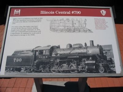 Illinois Central #790 Marker image. Click for full size.