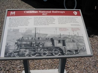 Canadian National Railways #47 Marker image. Click for full size.