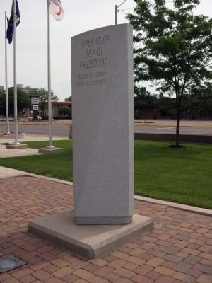 Front View - - Operation Iraqi Freedom - War Memorial Marker image. Click for full size.