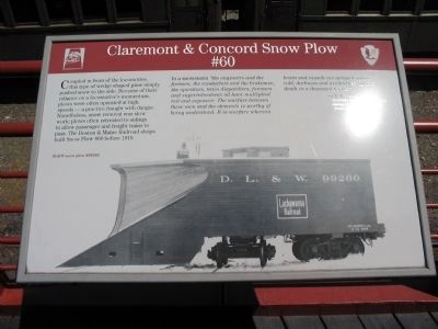 Claremont & Concord Snow Plow #60 Marker image. Click for full size.