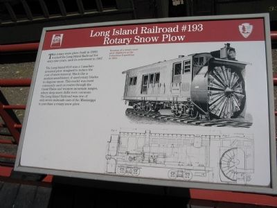 Long Island Railroad #193 Rotary Snow Plow Marker image. Click for full size.