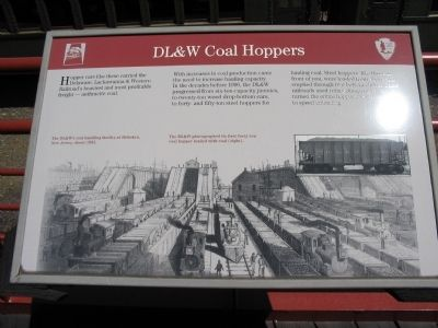 DL&W Coal Hoppers Marker image. Click for full size.