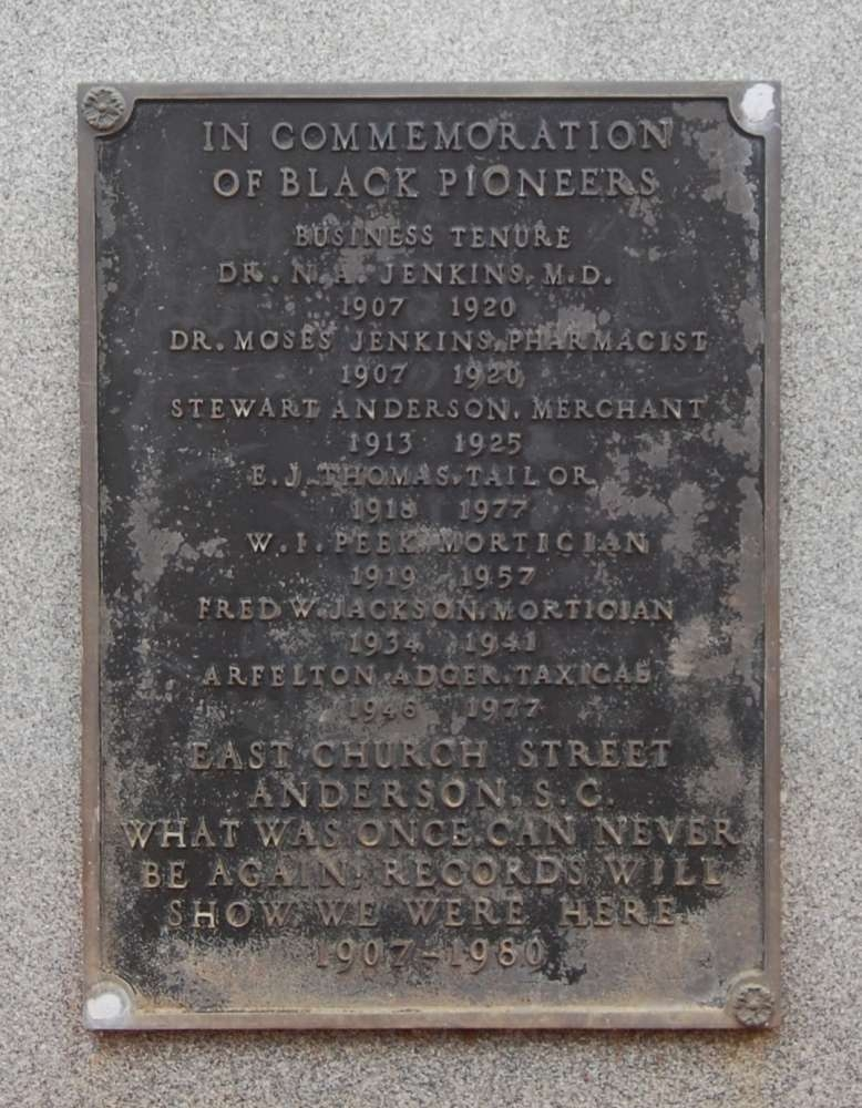 In Commemoration of Black Pioneers Marker - Front