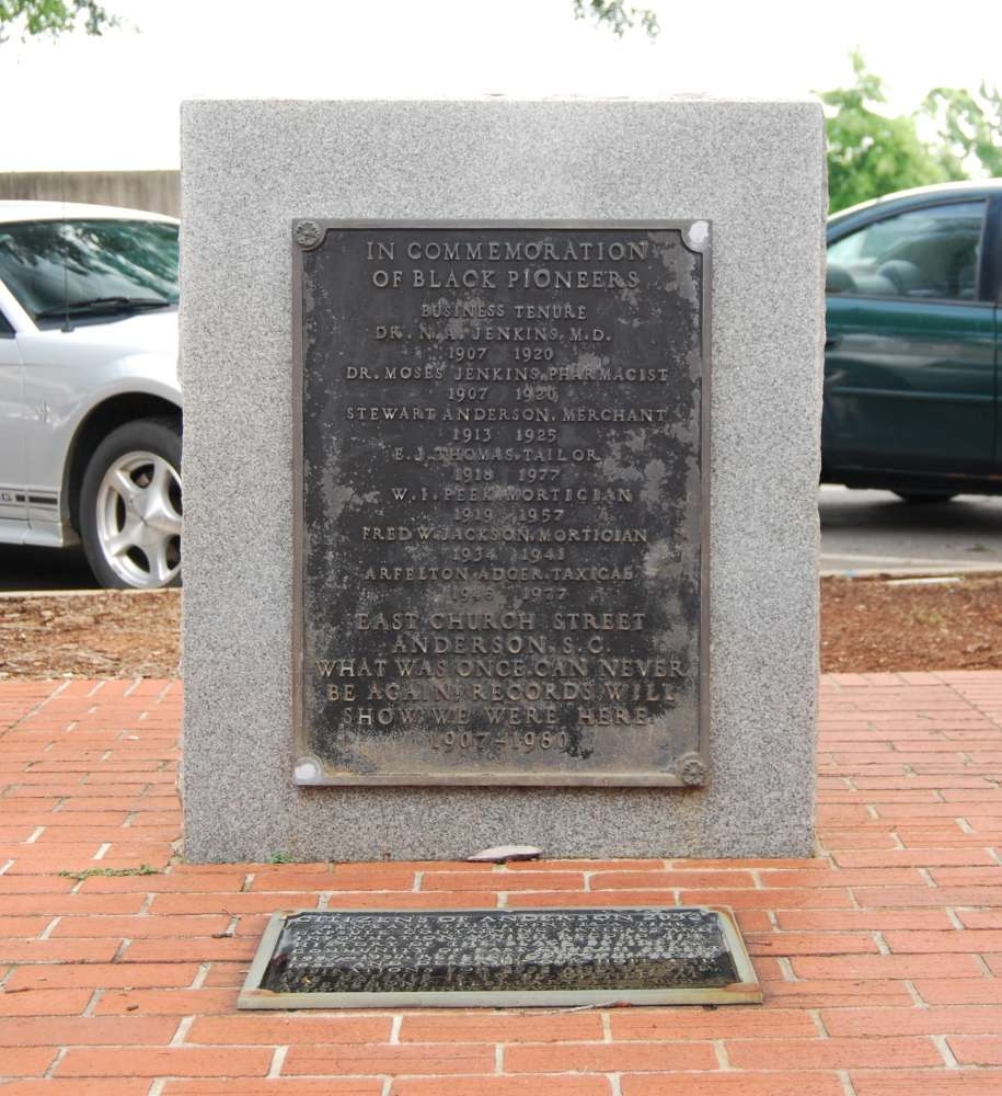 In Commemoration of Black Pioneers Marker -<br>Front and Time Capsule Marker