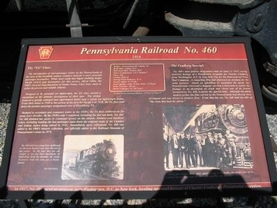 Pennsylvania Railroad No. 460 Marker image. Click for full size.