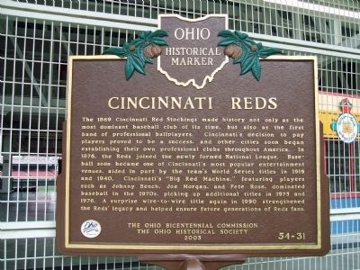 Cincinnati Reds Marker image. Click for full size.