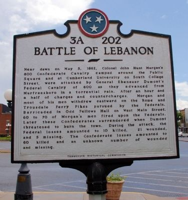 Battle of Lebanon Marker image. Click for full size.