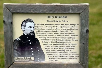Daily Business - The Adjutant's Office image. Click for full size.