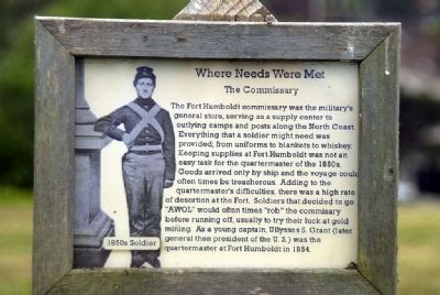Where Needs Were Met - The Commissary image. Click for full size.