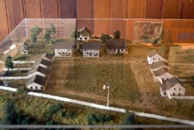 Diorama of Fort Humboldt image. Click for full size.
