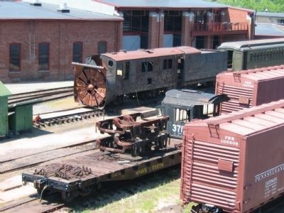 Long Island Railroad #193 Rotary Snow Plow in the Rail Yard image. Click for full size.