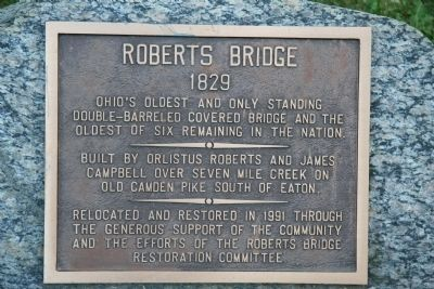 Roberts Bridge Marker image. Click for full size.