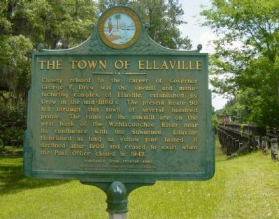 The Town of Ellaville Marker image. Click for full size.