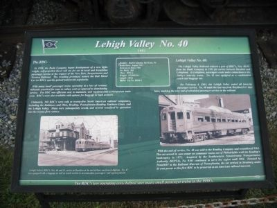 Lehigh Valley No. 40 Marker image. Click for full size.