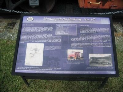 Monongahela Railway No. 67 Marker image. Click for full size.
