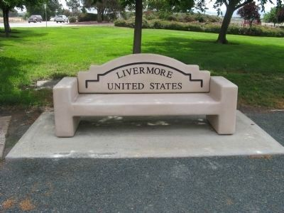 Livermore Sister City Bench image. Click for full size.