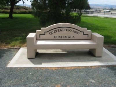 Quetzaltenango Sister City Bench image. Click for full size.