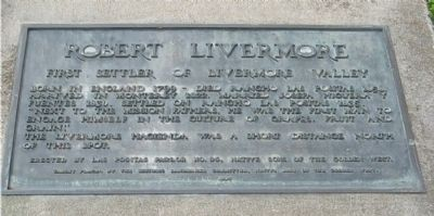 Robert Livermore Marker image. Click for full size.