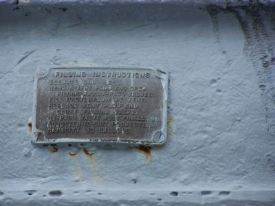 Tampa's 203 mm Spanish American War Gun Marker - Filling Instructions image. Click for full size.