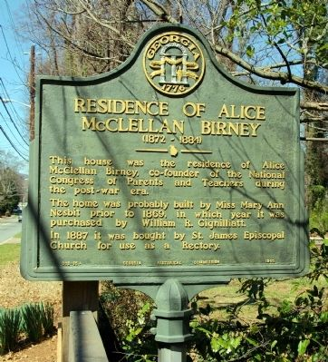 Residence of Alice McLellan Birney Marker image. Click for full size.