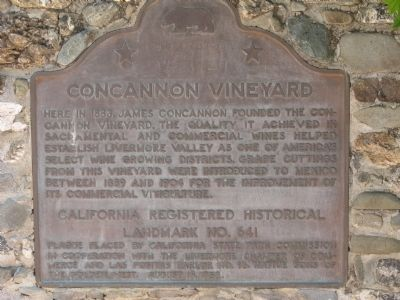 Concannon Vineyards Marker image. Click for full size.