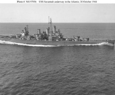 CL 42 , USS Savannah Light Cruiser image. Click for full size.
