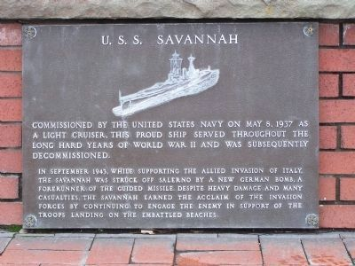 USS Savannah image. Click for full size.