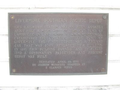 Livermore Southern Pacific Depot Marker image. Click for full size.