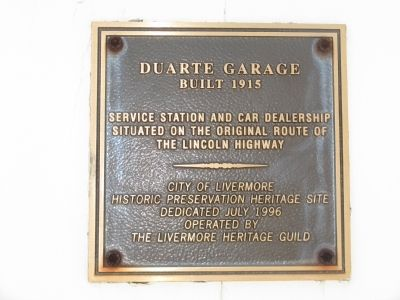 Duarte Garage Marker image. Click for full size.