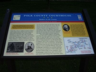 Polk County Courthouse Marker image. Click for full size.