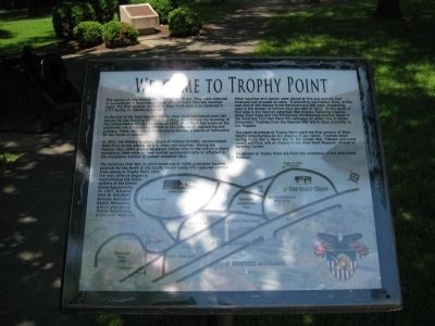 Welcome To Trophy Point Marker image. Click for full size.