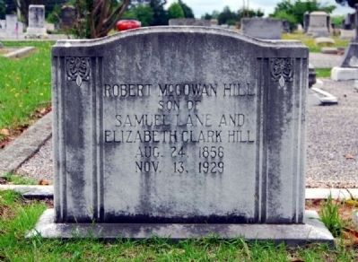 Robert McGowan Hill Tombstone<br>Long Cane Cemetery, Abbeville, SC image. Click for full size.