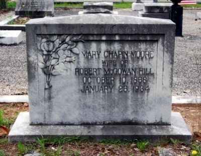 Mary Chapin Moore Tombstone<br>Long Cane Cemetery, Abbeville, SC image. Click for full size.