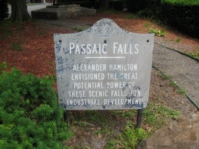 Passaic Falls Marker image. Click for full size.