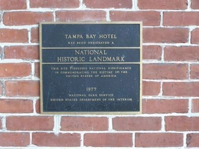 Tampa Bay Hotel , National Historic Landmark image. Click for full size.
